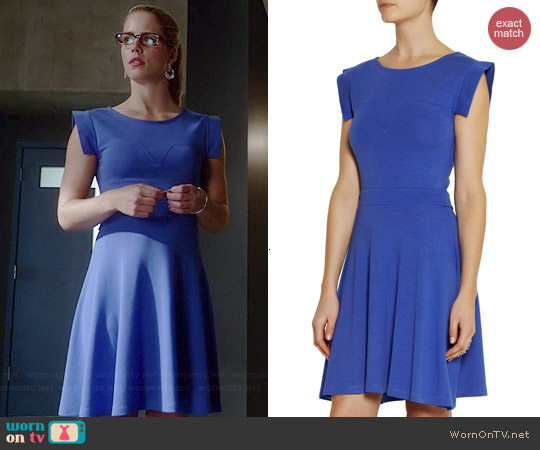 Karl Lagerfeld Barika Stretch Jersey Dress worn by Emily Bett Rickards on The Flash
