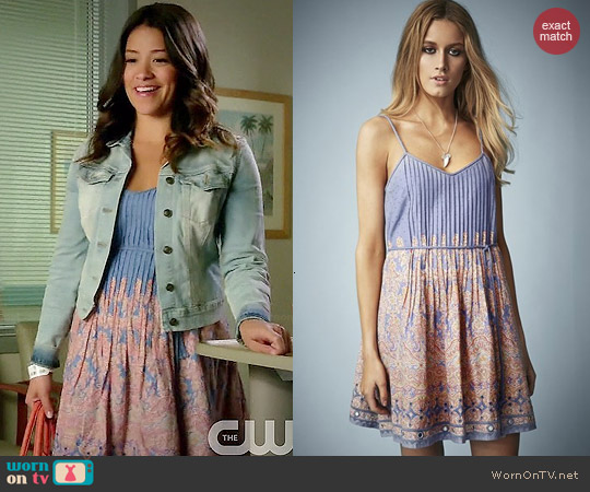 Kate Moss for Topshop Paisley Print Sundress worn by Gina Rodriguez on Jane the Virgin