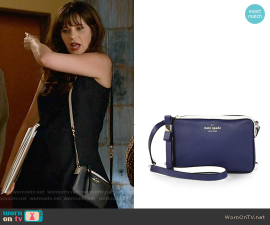 Kate Spade Highliner Clover Cross Body Bag worn by Zooey Deschanel on New Girl