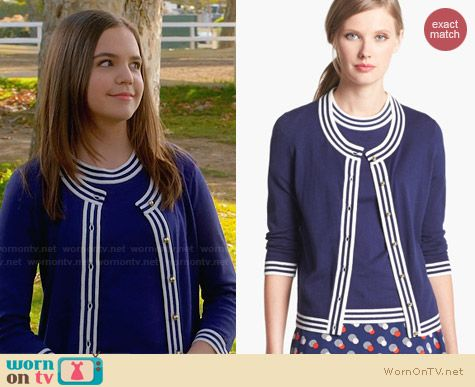 Kate Spade Anabela Cardigan worn by Bailee Madison on Trophy Wife