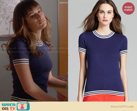 Kate Spade Anabela Sweater worn by Lea Michele on Glee