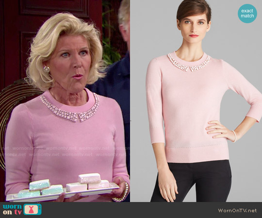 Kate Spade Avaline Sweater in Pink worn by Alley Mills on The Bold & the Beautiful
