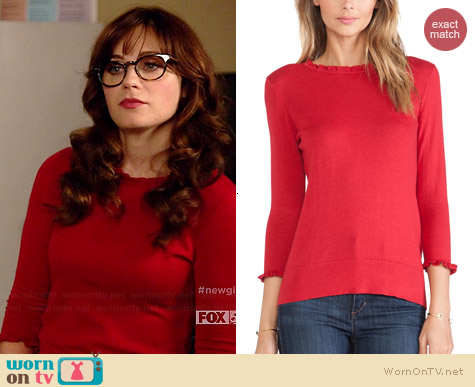 Kate Spade Bekki Sweater worn by Zooey Deschanel on New Girl