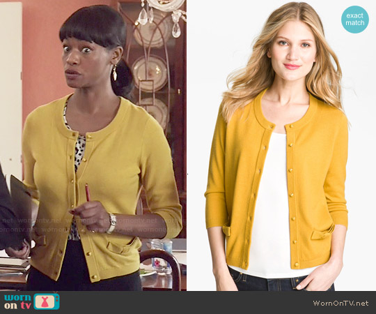 Kate Spade Carine Cardigan worn by Sufe Bradshaw on Veep