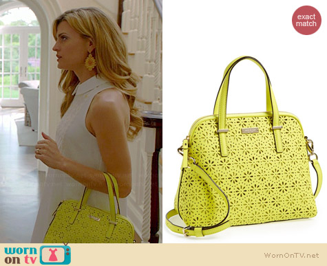 Kate Spade Cedar Street Maise Perforated Satchel in Bright Cubanelle on Royal Pains