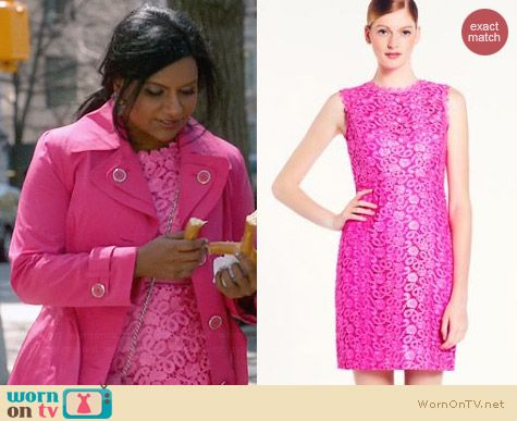 Kate Spade Della Dress in Vivid Snapdragon worn by Mindy Kaling on The Mindy Project