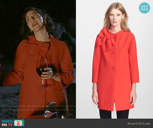 Kate Spade Dorothy Coat worn by Kristen Schaal on Last Man On Earth