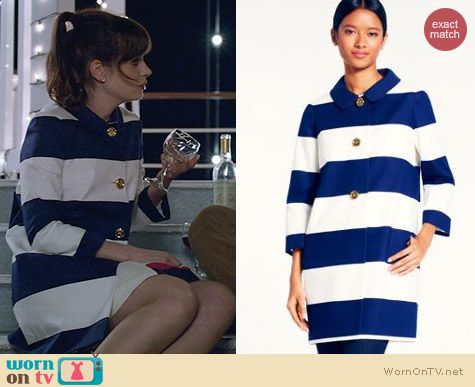Kate Spade Franny Coat worn by Zooey Deschanel on New Girl