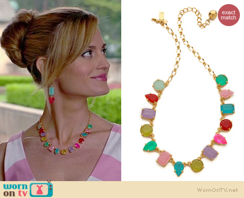 Kate Spade Gumdrop Gem Mini Necklace worn by Brooke D'Orsay on Royal Pains