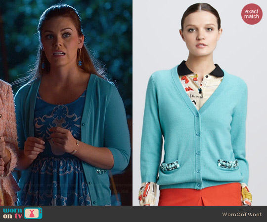Kate Spade Hilda Cardigan worn by Kaitlyn Black on Hart of Dixie