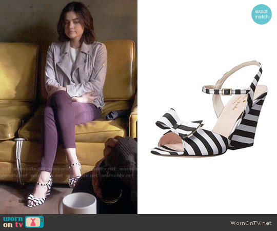 Kate Spade Imari Sandals in Stripe worn by Aria Montgomery on PLL