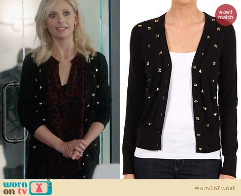 Kate Spade Kati Cardigan worn by Sarah Michelle Gellar on The Crazy Ones