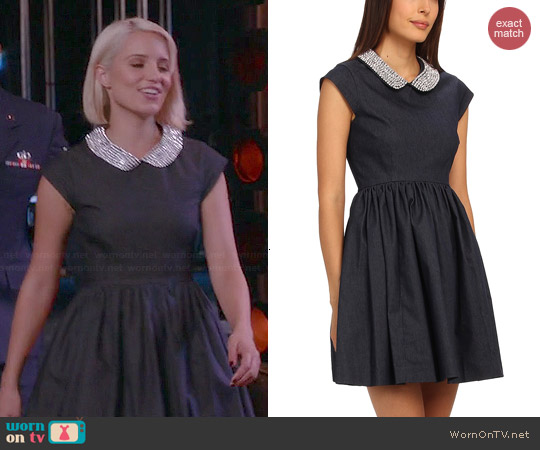 Kate Spade Kimberly Denim Dress worn by Dianna Agron on Glee