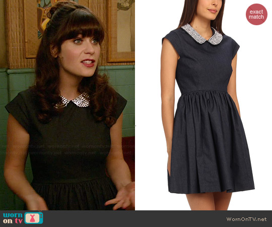 Kate Spade Kimberly Dress worn by Zooey Deschanel on New Girl
