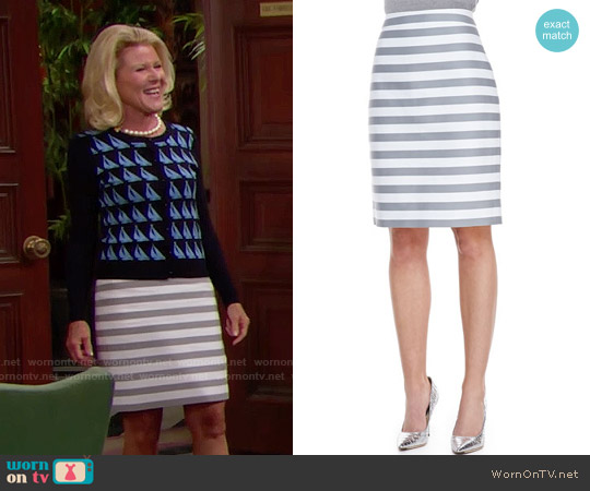 Kate Spade 'Marit' Striped Pencil Skirt worn by Pamela Douglas on The Bold & the Beautiful
