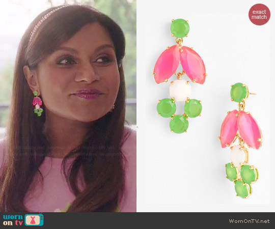 Kate Spade Marquee Earrings worn by Mindy Kaling on The Mindy Project