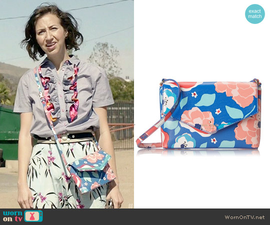 Kate Spade Cedar Street Multi Floral Monday Cross-body Bag worn by Carol Pilbasian on Last Man On Earth