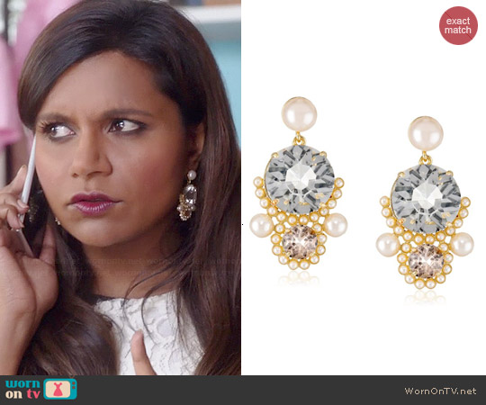 Kate Spade Palace Gems Earrings worn by Mindy Kaling on The Mindy Project