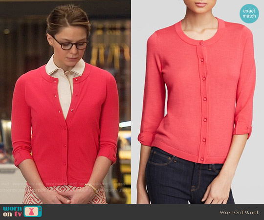 Kate Spade Somerset Cardigan in Aladdin Pink worn by Kara Danvers on Supergirl