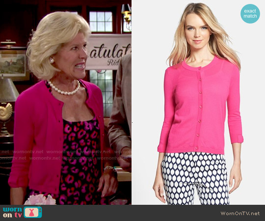 Kate Spade Somerset Cardigan worn by Pamela Douglas on The Bold & the Beautiful