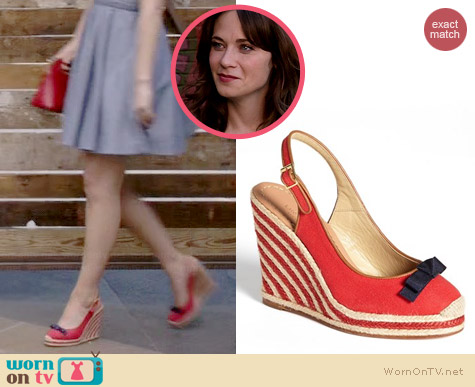 Kate Spade Sweetie Wedges worn by Zooey Deschanel on New Girl