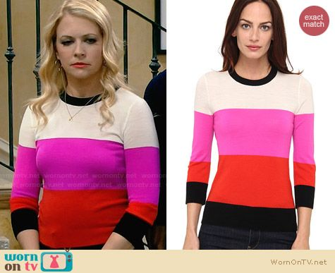 Kate Spade Talley Sweater worn by Melissa Joan Hart on Melissa & Joey