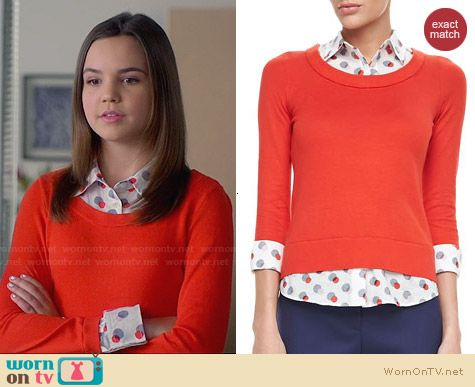 Kate Spade Yardley Sweater worn by Bailee Madison on Trophy Wife