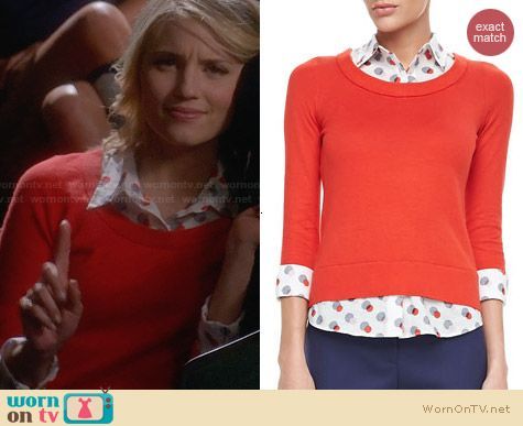 Kate Spade Yardley Sweater worn by Dianna Agron on Glee