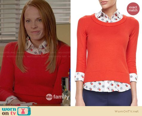 Kate Spade Yardley Sweater worn by Katie Leclerc on Switched at Birth