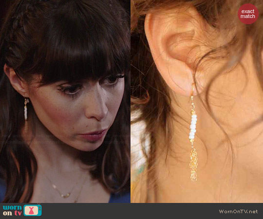 Katie Dean All Hail the Queen Earrings worn by Cristin Milioti on A to Z