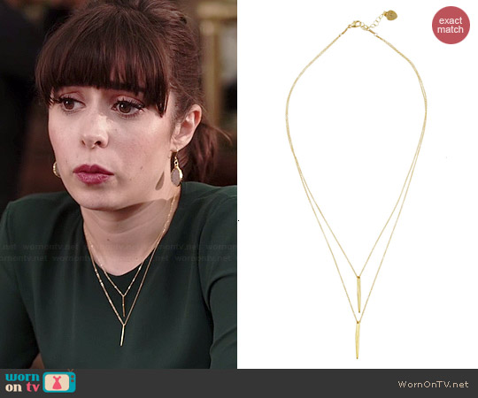 Katie Dean Double Dipping Necklace worn by Cristin Milioti on A to Z