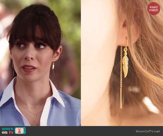 Katie Dean Light as a Feather Earrings worn by Cristin Milioti on A to Z