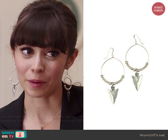 Katie Dean Native Grace Earrings worn by Cristin Milioti on A to Z