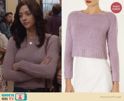 Katie Findlay Fashion: Topshop Knitted Fluffy Jumper worn on The Carrie Diaries