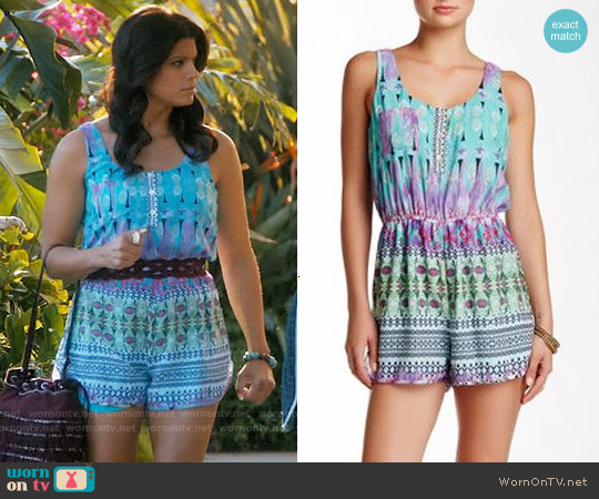 Kaya di koko Sleeveless Romper worn by Andrea Navedo on Jane the Virgin
