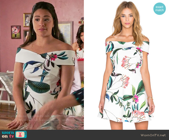 Keepsake The Sweetest Thing Dress worn by Gina Rodriguez on Jane the Virgin