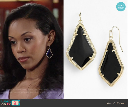 Kendra Scott Alex Earrings worn by Hilary Curtis on The Young & the Restless