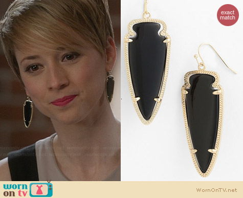 Kendra Scott Skylar Spear Earrings worn by Karine Vanasse on Revenge