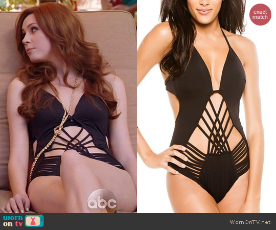 Kenneth Cole Desert Heat One-Piece Swimsuit worn by Karen Gillan on Selfie