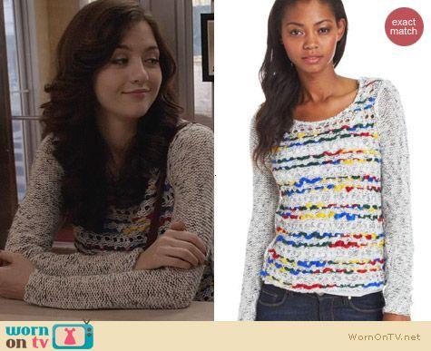 Kensie Crafty Mixed Yarn Sweater worn by Maggie Landers on The Carrie Diaries