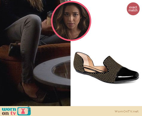 Kensie Evan Studded Smoking Flats worn by Shay Michell