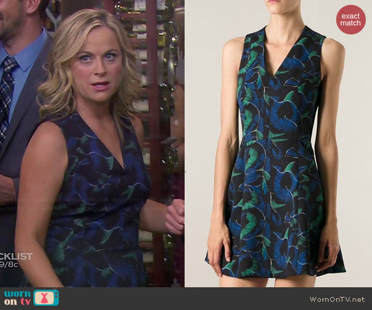 Kenzo Abstract Print Skater Dress worn by Amy Poehler on Parks & Rec