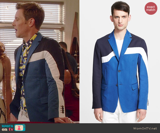 Kenzo Colorblock Blazer worn by Gabrielle Mann on Revenge
