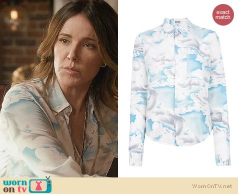 Kenzo Day Clouds Shirt worn by Christa Miller on Cougar Town