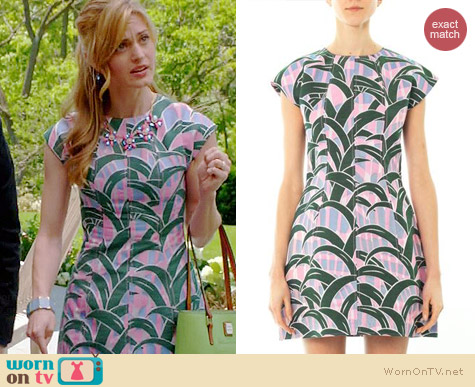 Kenzo Leaves Dress worn by Brooke D'Orsay on Royal Pains