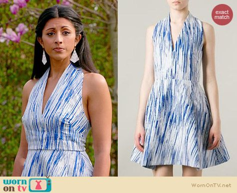 Kenzo Sleeveless Skater Dress worn by Reshma Shetty on Royal Pains