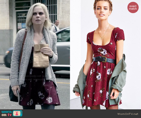 Kimchi Blue Autumn Cap Sleeve Skater Dress worn by Rose McIver on iZombie