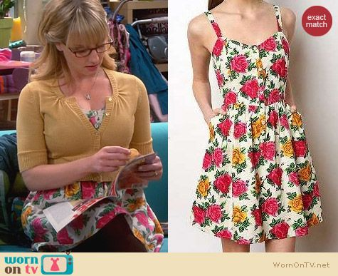 Kimchi Blue Cabbage Six Dress worn by Bernadette on The Big Bang Theory