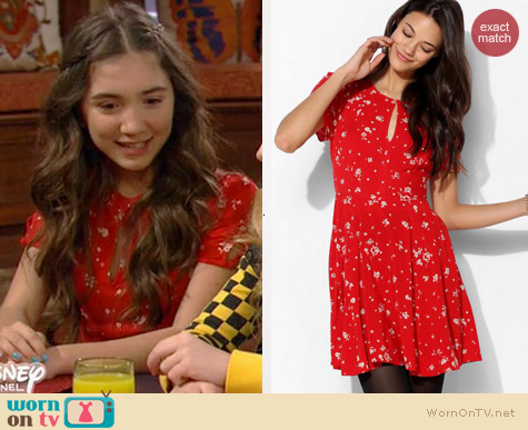 Kimchi Blue Ruby Keyhole Fit & Flare Dress worn by Rowan Blanchard on Girl Meets World