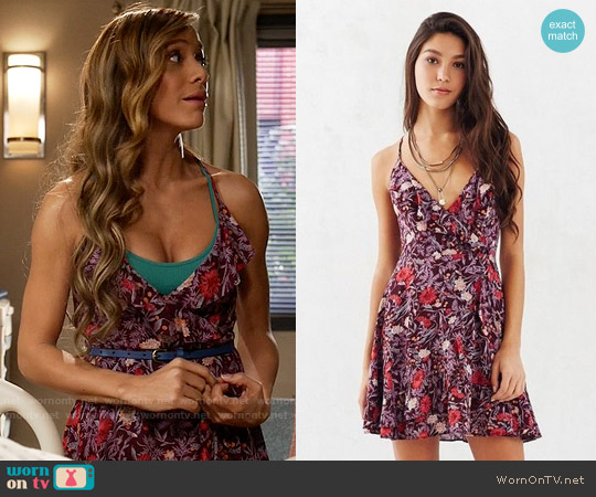 Kimchi Blue 'Sabrina' Ruffle Wrap Mini Dress worn by Dania Ramirez on Devious Maids